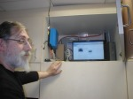 Dany Weyne van Cervo controleert de live streaming. Het werkt!