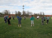 Sport en spel in het militair kamp.